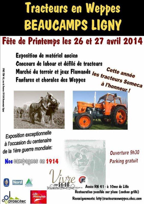 Fête de printemps 2014 de Tracteurs en Weppes