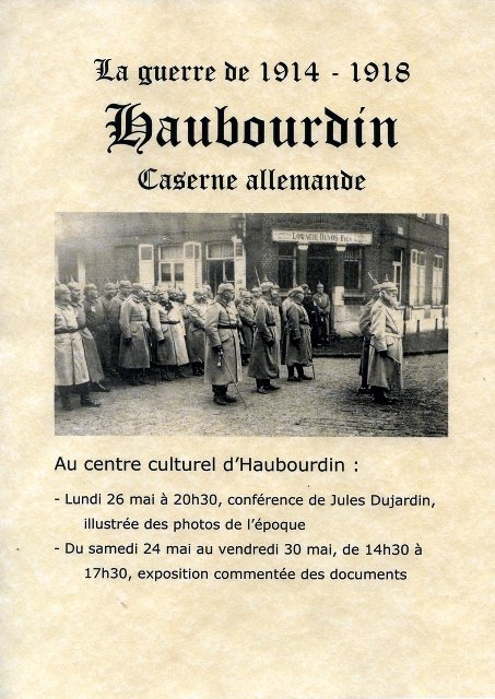 Haubourdin, caserne allemande pendant la Première Guerre mondiale