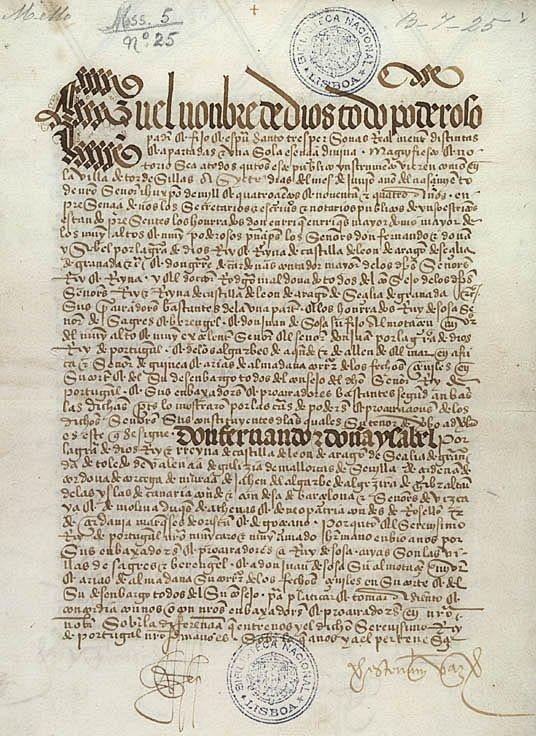 7 juin 1494, traité de Tordesillas, le premier partage du monde