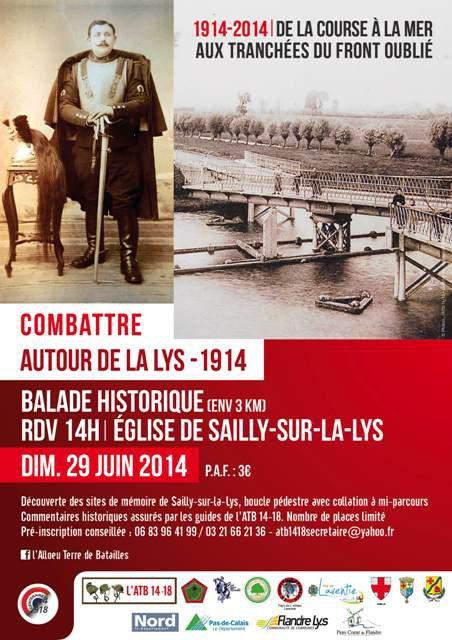 Combattre autour de la Lys 1914