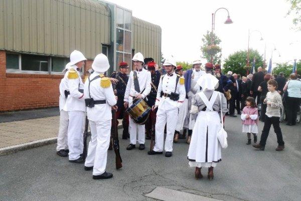 Commémoration de la Première Guerre mondiale à Annequin (Pas-de-Calais), reportage Chantal Dhennin