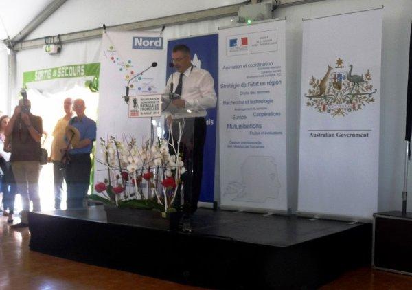Vendredi 18 juillet 2014, inauguration du musée de la bataille de Fromelles : les discours (Chantal Dhennin)