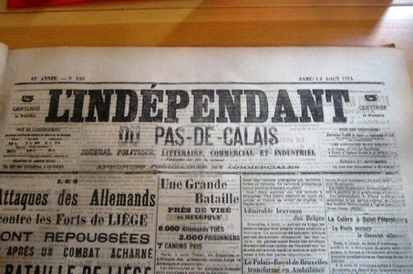 Au début du mois d'août 1914, l'espionnite règne à Lambersart