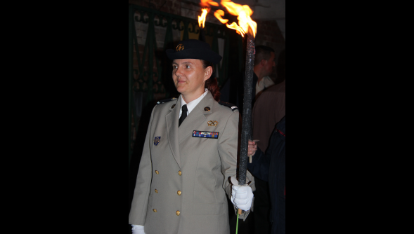 """""""100 torches, 100 flammes !"""" : le 2 août dernier, la commune de Pérenchies, en association avec sa ville jumelée d'Overath en Allemagne, a commémoré le centenaire de la Première Guerre mondiale"""