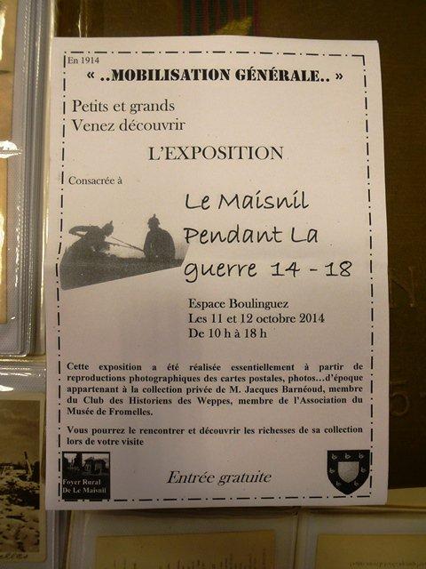 La Guerre 14-18 à Le Maisnil : mobilisation générale ce week-end !