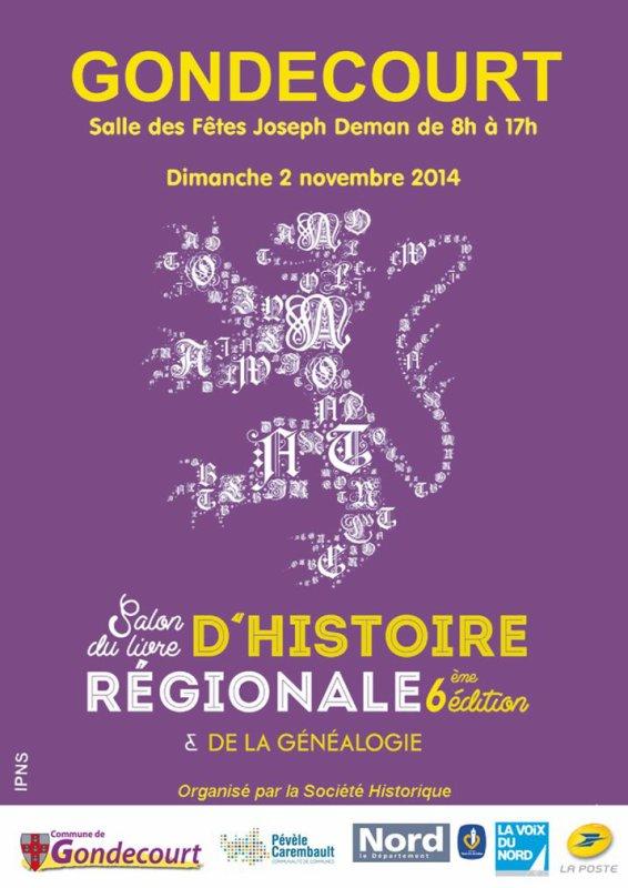 Dimanche 2 novembre : salon du livre d'histoire régionale de Gondecourt