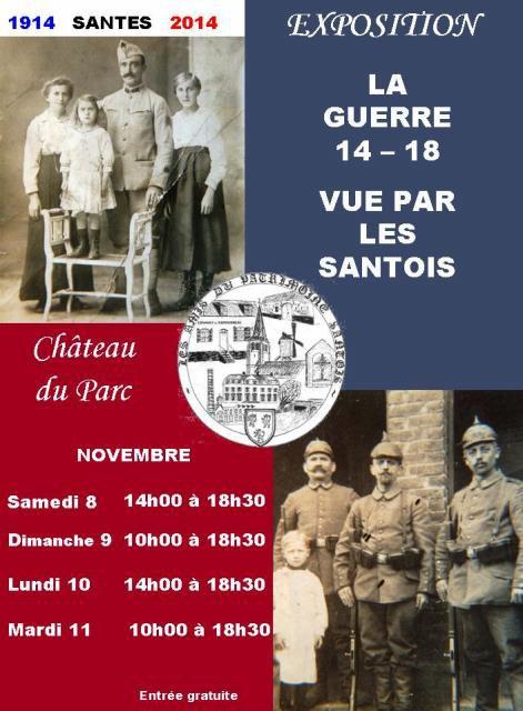 La guerre 14-18 vue par les Santois