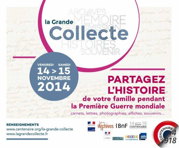 Une nouvelle grande collecte 14-18 aux Archives départementales du Nord à Lille