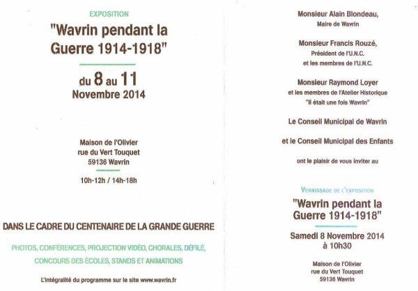 Wavrin pendant la guerre 1914-1918