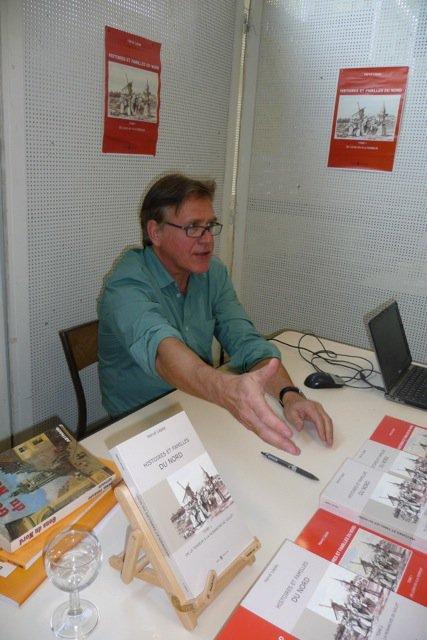 Hervé Lépée aux bouquinades d'Emmerin le samedi 22 novembre