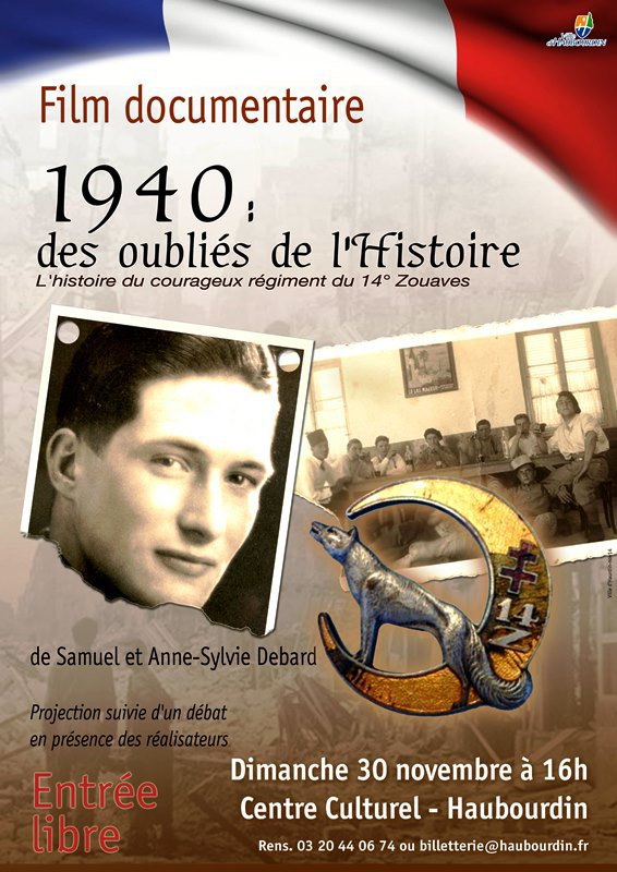 1940 : des oubliés de l'histoire, l'action du 14ème régiment de zouaves