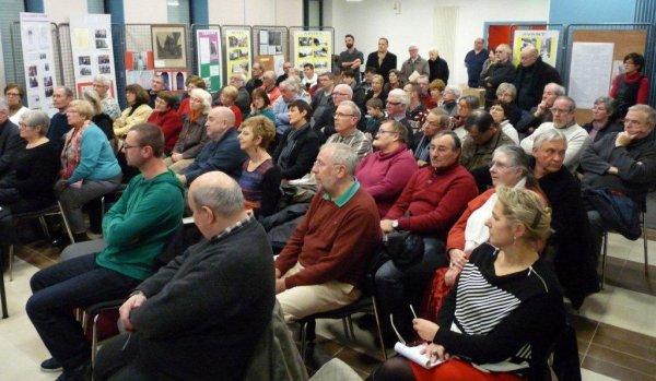 Le Bistrot Histoire d'Aubers : les discours officiels (photos Alain-Pierre Loyez)