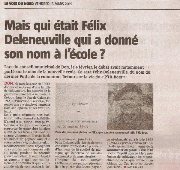 Le dernier poilu de Don (revue de presse d'Alain-Pierre Loyez)