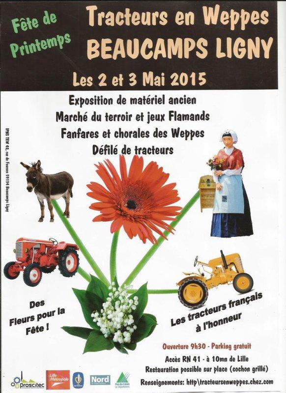 La Fête de Printemps de Tracteurs en Weppes, c'est le week-end prochain !