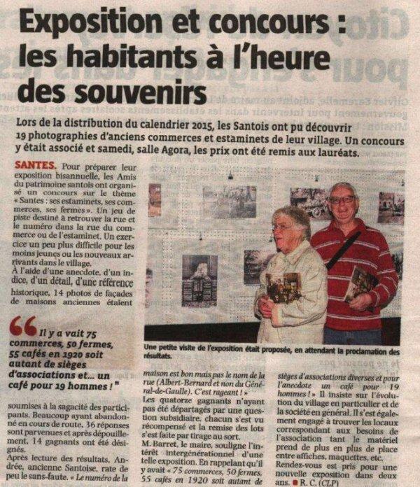 Retour sur l'exposition de Santes à l'ordre du jour de la revue de presse d'Alain-Pierre Loyez