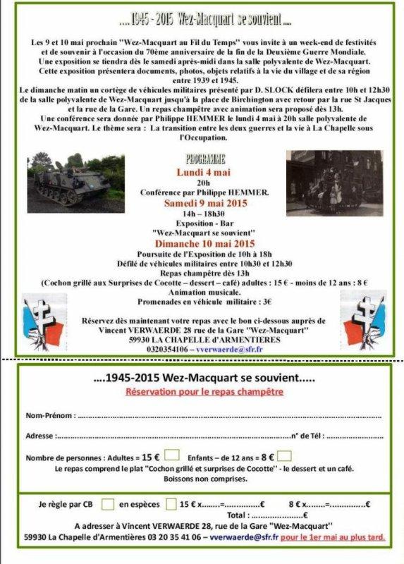 1945-2015 Wez-Macquart se souvient