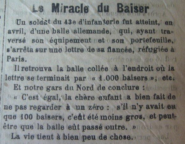 Le miracle du baiser