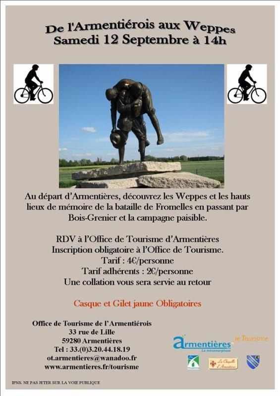 La ligne de front de la Grande Guerre dans le Pays de Weppes : parcourez-la à bicyclette samedi prochain avec l'office de tourisme de l'Armentiérois