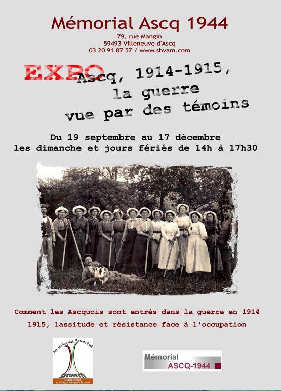 Ascq 1914-1915, la guerre vue par des témoins