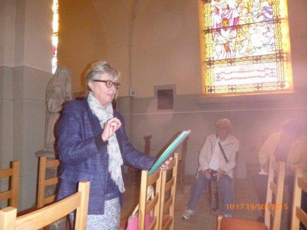 Journée du patrimoine à Illies: L'église saint-Waast et son histoire (reportage Chantal Dhennin)
