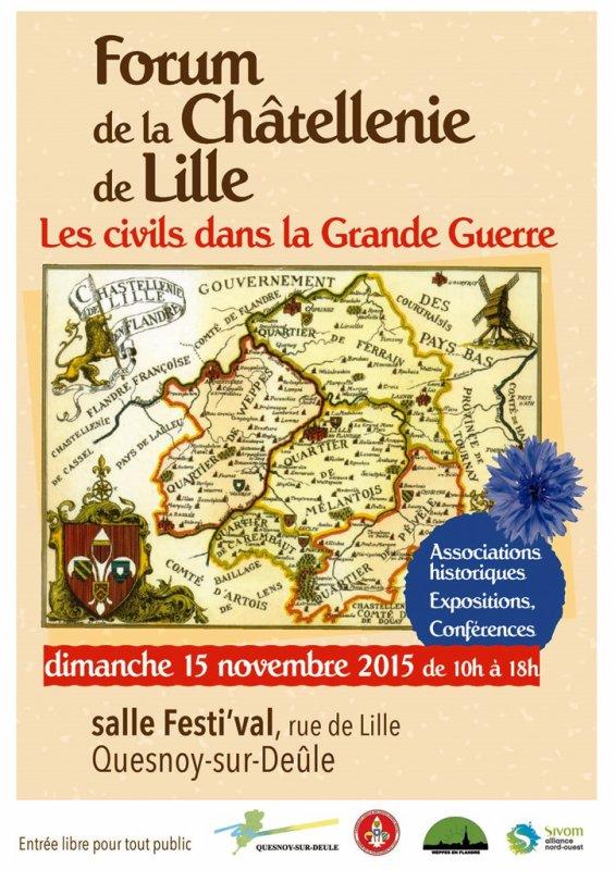 Forum de la châtellenie de Lille : l'affiche ! (à diffuser sans modération)
