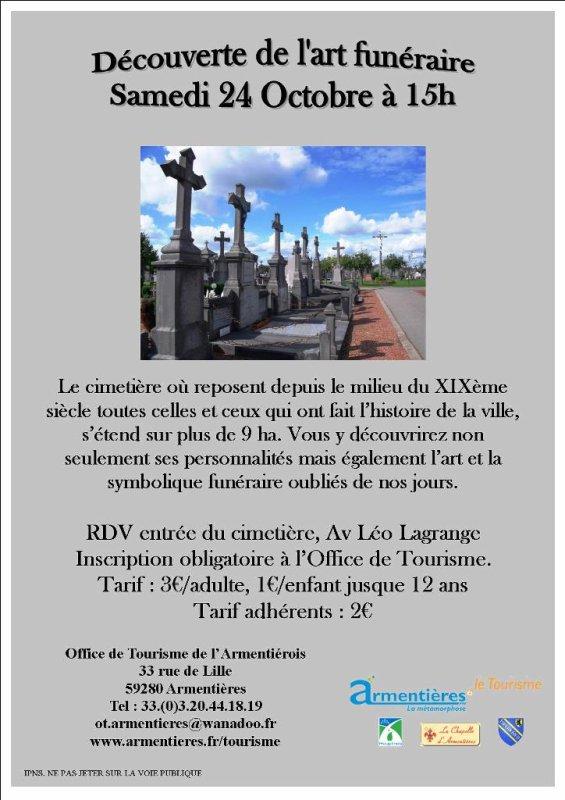 Samedi 24 octobre, découvrez l'art funéraire à Armentières