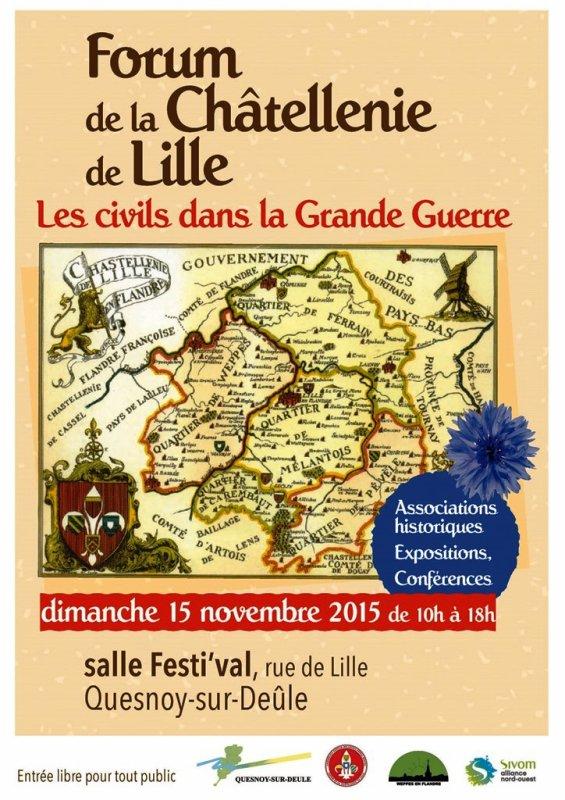 Forum de la châtellenie de Lille le dimanche 15 novembre à Quesnoy-sur-Deûle