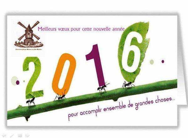 Le groupe mémoire de Lille-Moulins vous présente ses meilleurs voeux pour 2016