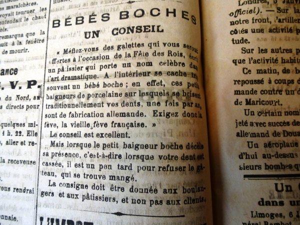 Fête des Rois 1916 : une bonne vieille fève française, sinon rien !