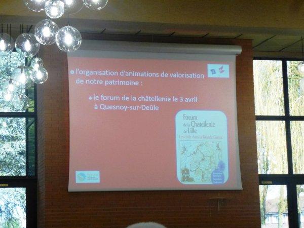 Le forum de la châtellenie de Lille à l'affiche de la cérémonie de voeux du SIVOM Alliance Nord-Ouest.