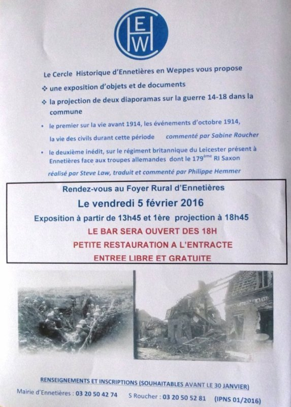 La Première Guerre mondiale à Ennetières-en-Weppes