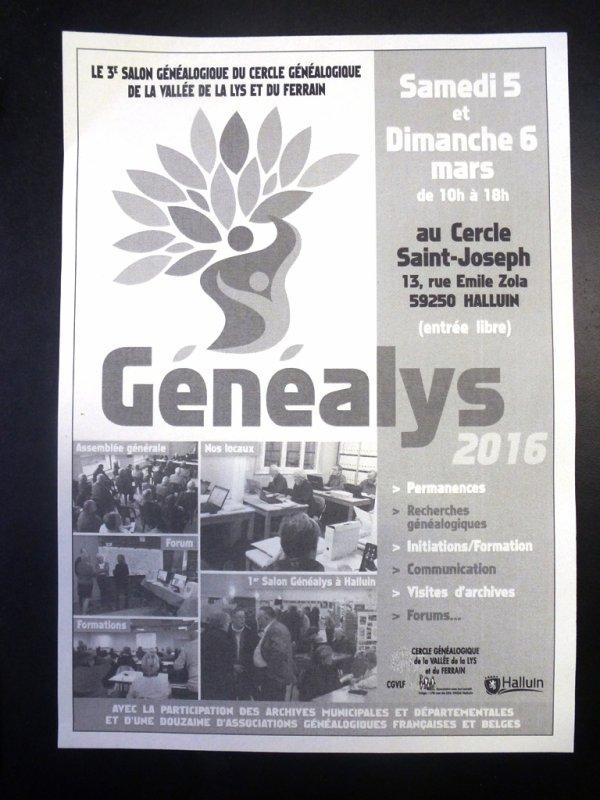 Généalys 2016