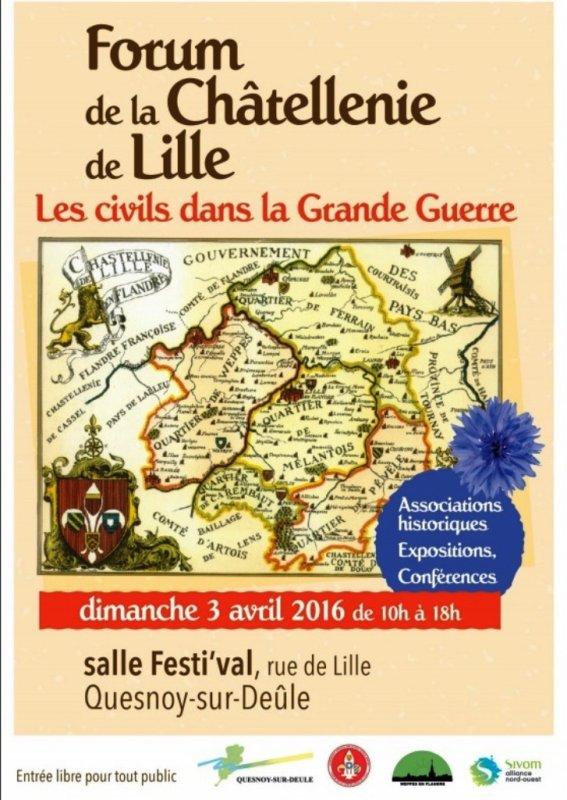 Forum de la châtellenie de Lille : l'affiche