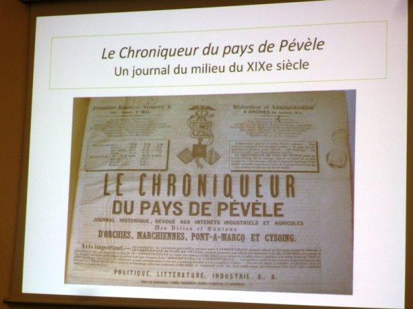 Le Chroniqueur du Pays de Pévèle : présentation devant la Commission historique du Nord