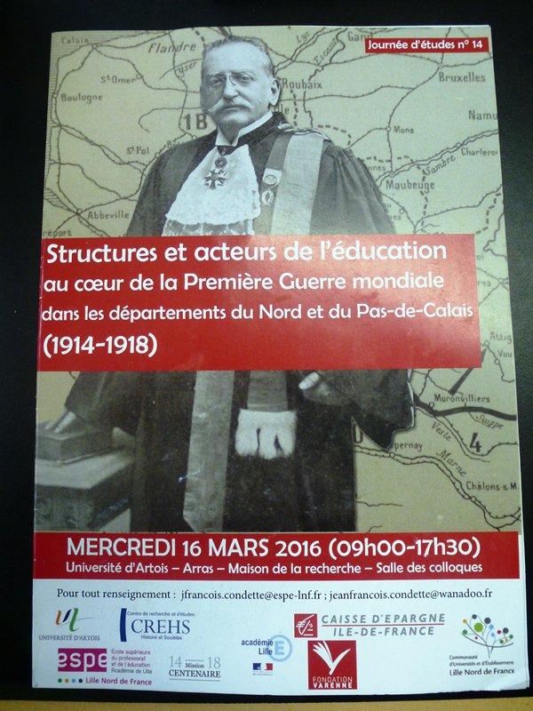 Structures et acteurs de l'éducation au coeur de la Première Guerre mondiale dans les départements du Nord et du Pas-de-Calais (1914-1918)