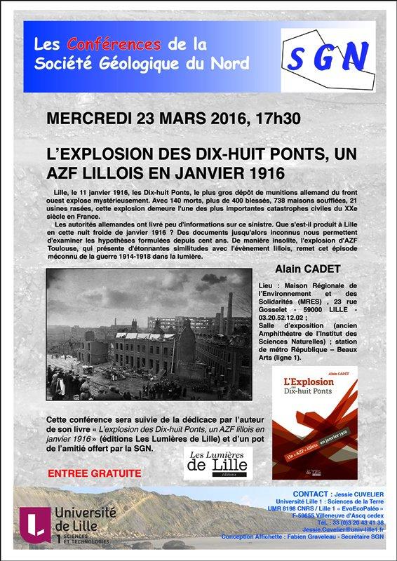 L'explosion des dix-huit ponts à Lille au menu des conférences de la société géologique du Nord