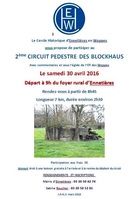 Le programme du mois d'avril du Cercle historique d'Ennetières-en-Weppes