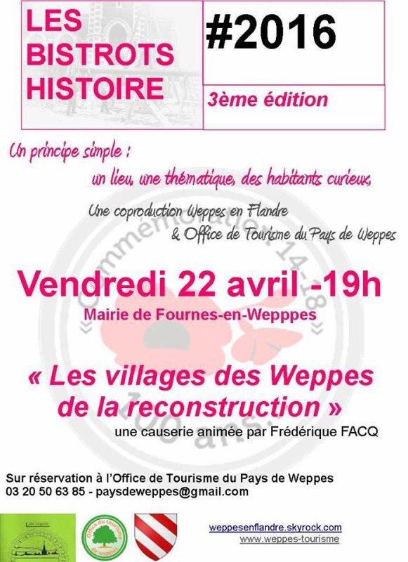 Petite piqûre de rappel : vendredi soir, il y a bistrot histoire à Fournes-en-Weppes !
