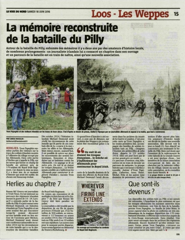 La bataille du Pilly à Herlies