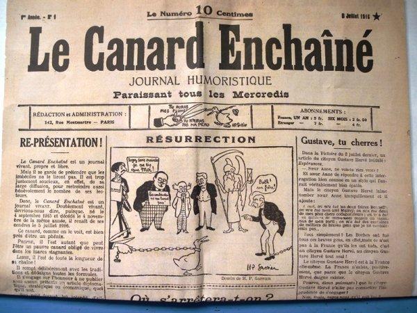 2016, c'est aussi le centenaire du Canard Enchaîné !