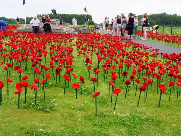 Commémoration à Fleurbaix, ce dimanche 17 juillet, de la bataille de Fleurbaix-Fromelles (photos de Marie-Claude Vervisch)