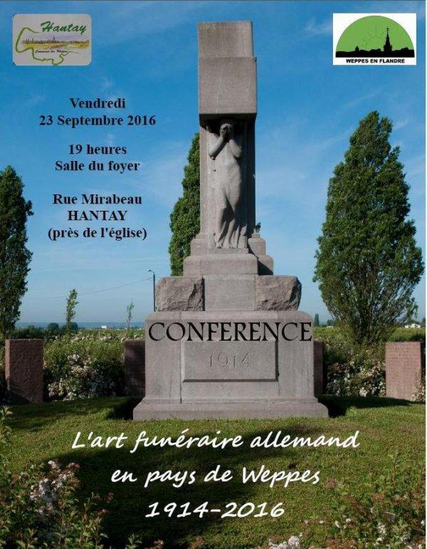 L'art funéraire allemand dans le pays de Weppes de 1914 à nos jours