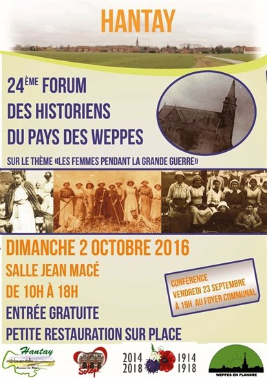 Forum des Weppes à Hantay le 2 octobre : l'affiche officielle à diffuser sans modération.