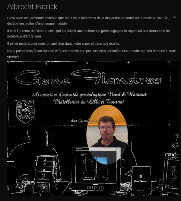 L'association Gene Flandres, basée à Sainghin-en-Weppes, pleure la disparition de l'un des siens.