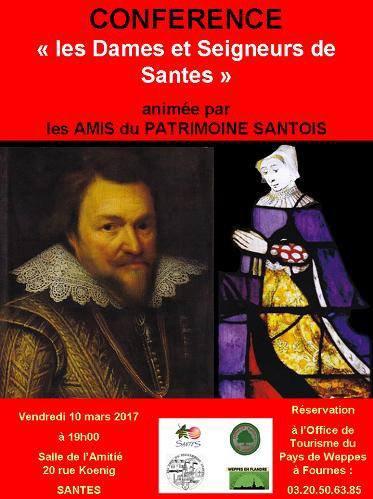 Vendredi 10 mars : conférence sur les Dames et Seigneurs de Santes