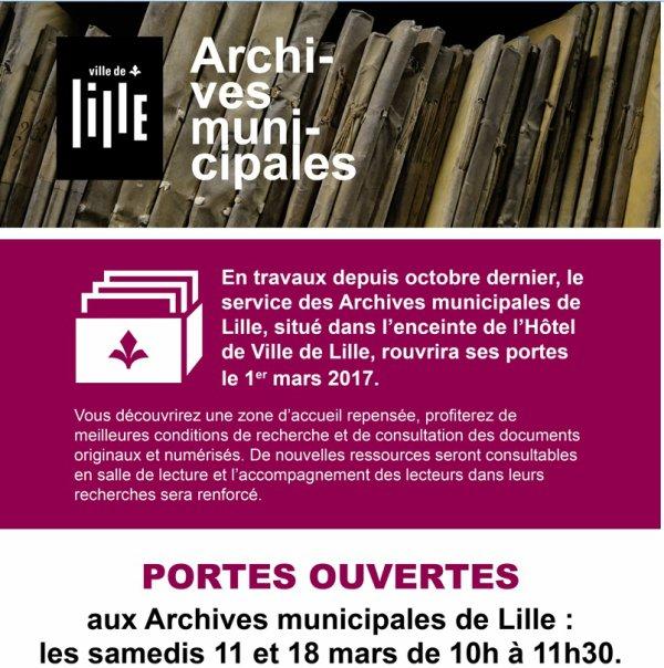 Portes ouvertes aux Archives municipales de Lille (réouverture après travaux)