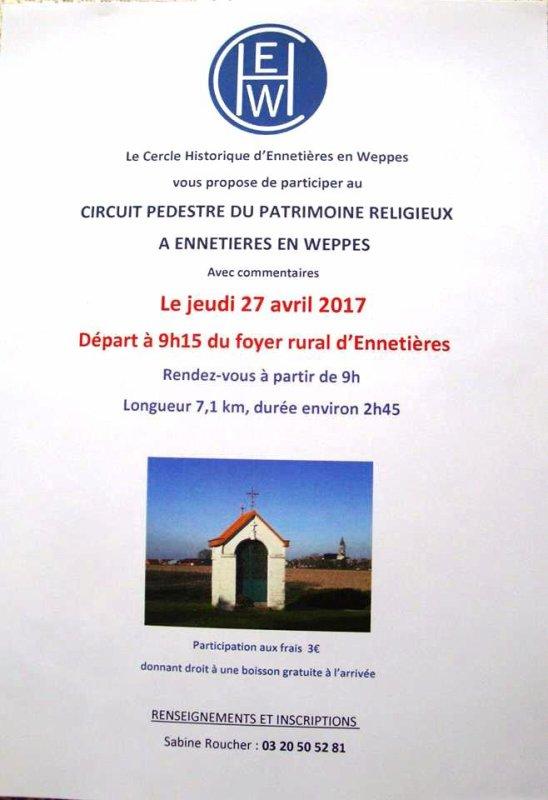 Le Cercle historique d'Ennetières-en-Weppes vous propose de partir à la découverte du patrimoine religieux de la commune