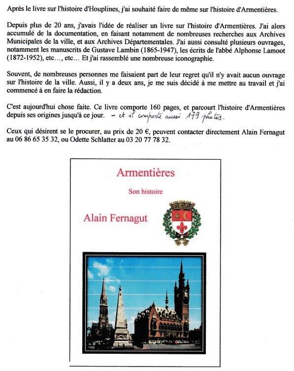 Armentières et son histoire, par Alain Fernagut
