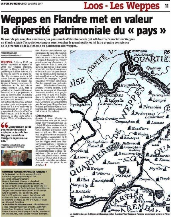 Weppes en Flandre : la revue de presse d'Alain-Pierre Loyez