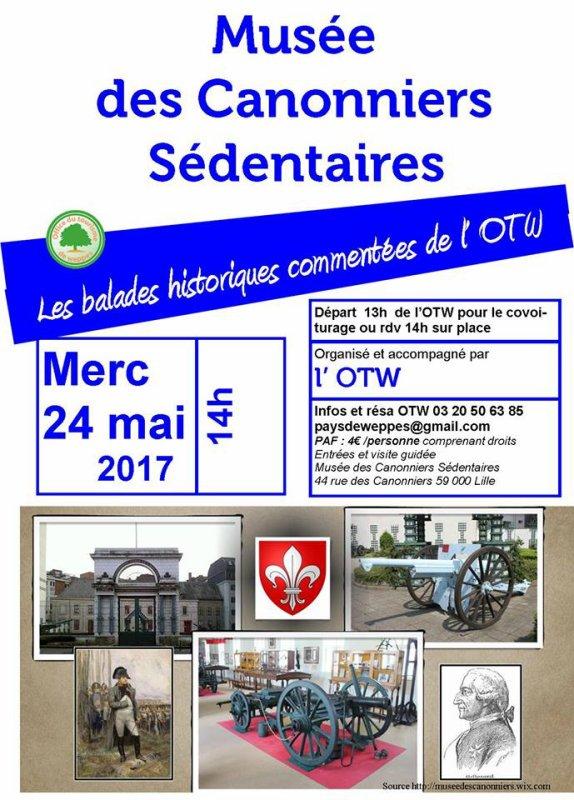 L'office de tourisme du pays de Weppes vous invite à visiter prochainement le musée des Canonniers de Lille !